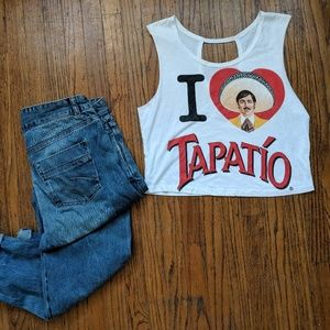 Tops - 🌿2 for 12🌿 Graphic Crop Top Tank